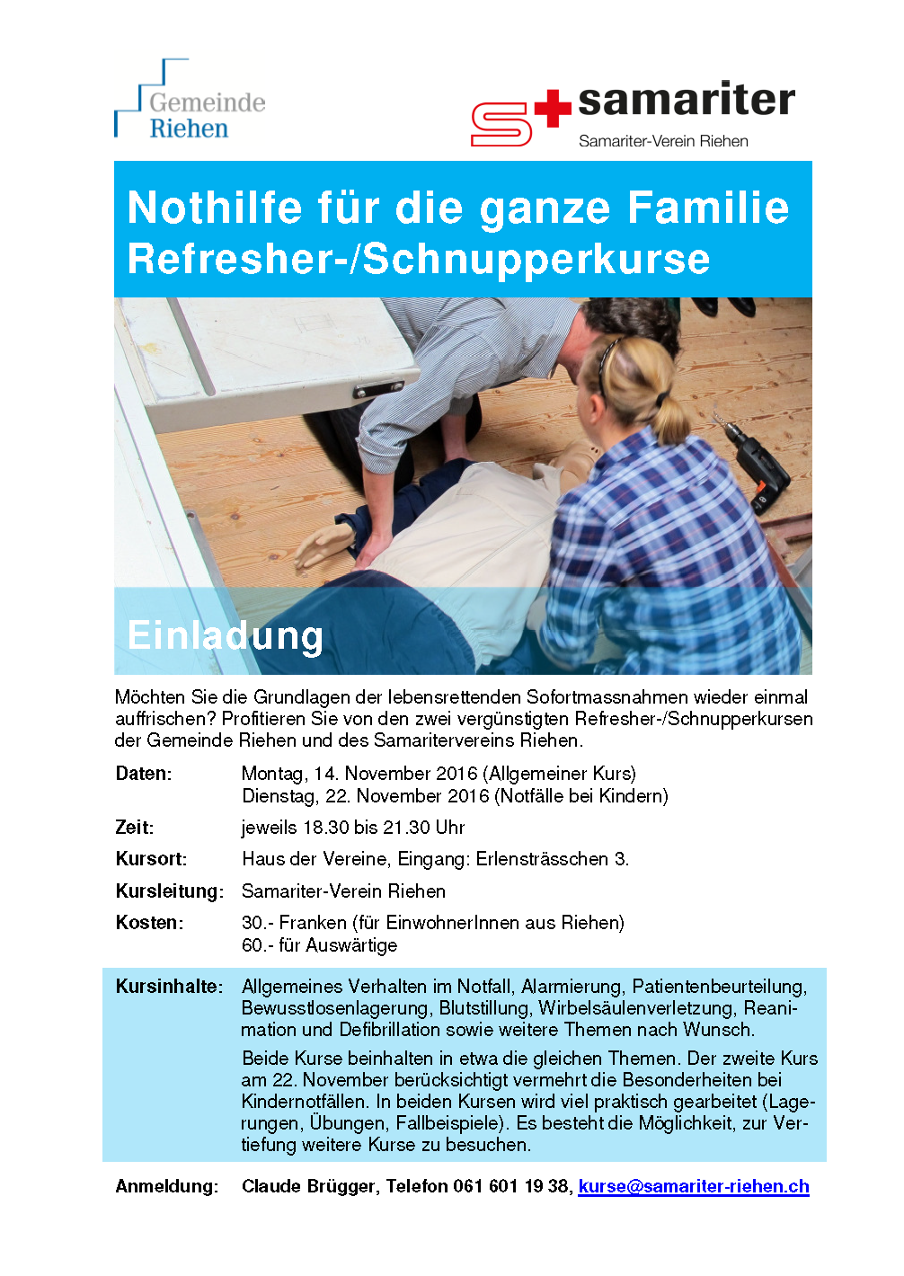 Flyer Nothilferefresher 2016